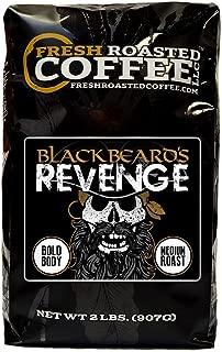 Fresh Roasted Coffee LLC, Blackbeard's Revenge Coffee, Artisan Blend, Medium Roast, Bold Body, Whole Bean, 2 Pound Bag