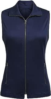 Women's Lightweight Vest Casual Zipper Military Cotton Jacket Plus Size