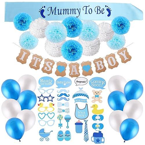 Blue Baby Shower Decorations Amazon Co Uk