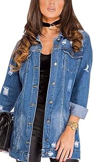 50ec473bef Amazon.it: jeans ragazzo strappati - Giacche e cappotti / Donna ...