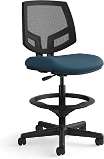 The HON Company GA90.T HON Volt Mesh Back Task Upholstered Adjustable Office Stool, Navy (H5715)