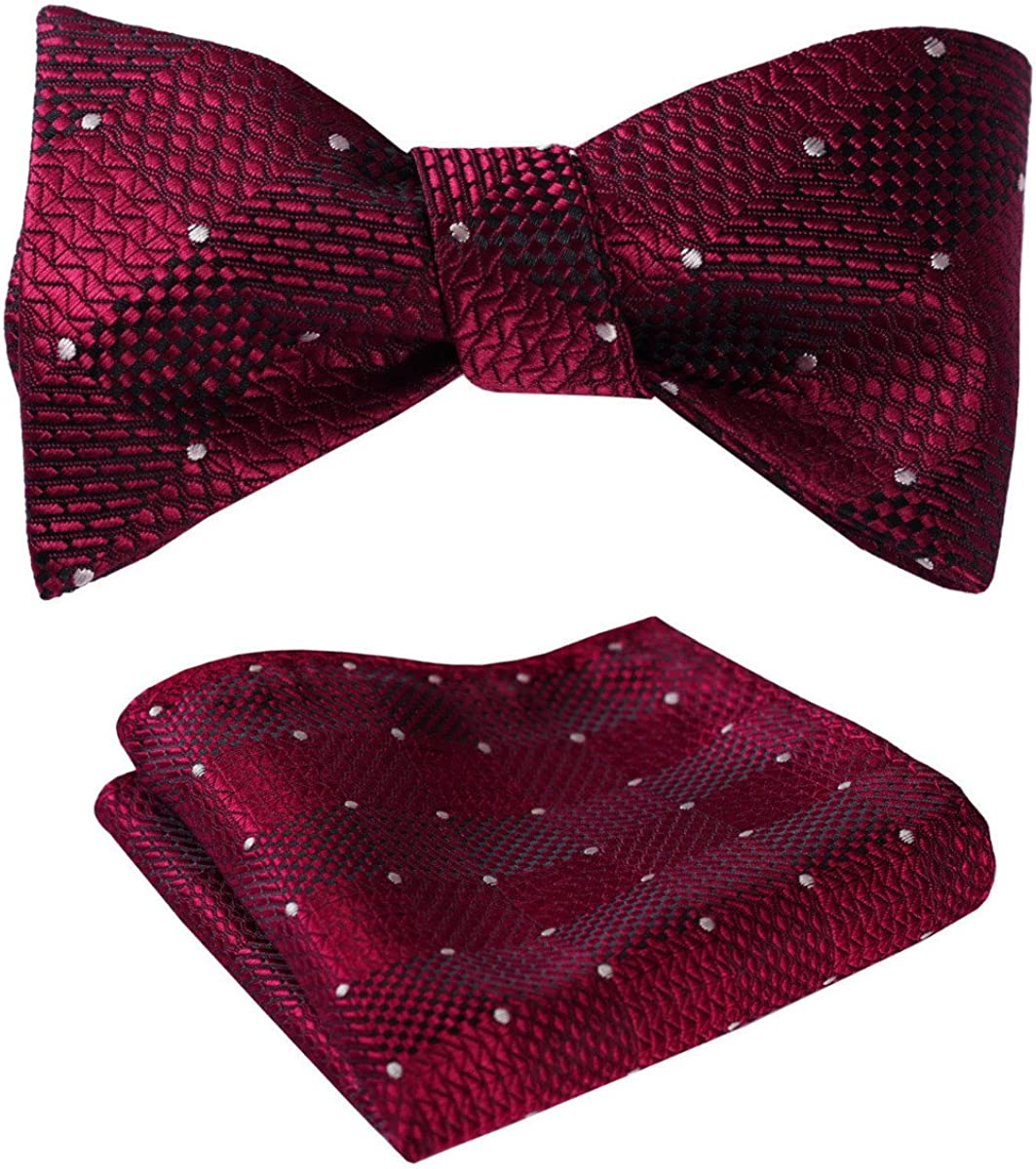 Mens Bow Tie Checked Plaid Self M BowTies Classic for Indefinitely BowTie Limited Special Price