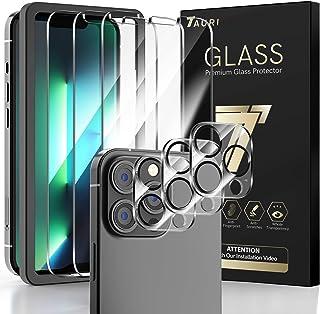 TAURI [3+3 Pack Compatibel met iPhone 13 Pro, 3 Pack Camera Lens Protector + 3 Pack Gehard Glas Screen Protector met Uitli...