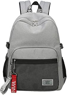 Classic Backpack Haversack Travel School Bag Student Simple Daypack Bookbag by Mygreen(Gray)