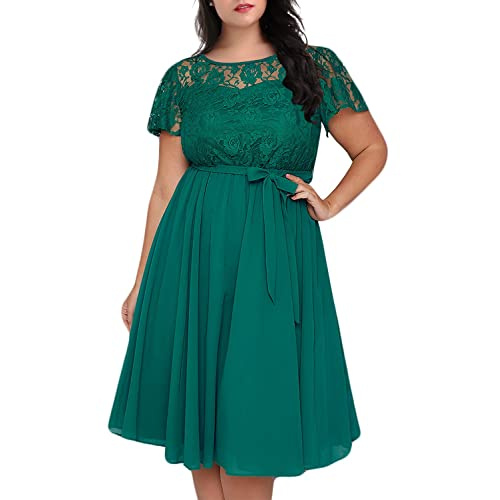 Green Plus Size Dress: Amazon.com
