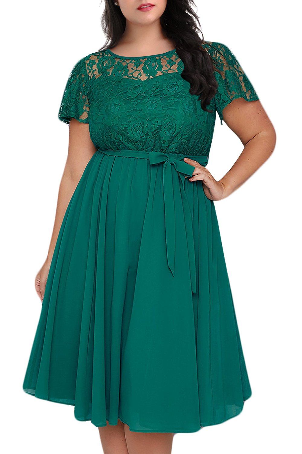 Plus Size Dresses - Women's Plus Size High Waist Velvet Sexy Faux Wrap Pencil Cocktail Midi Dresses