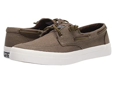 Sperry Crest Boat Barrel Tie Lace (Olive) Women