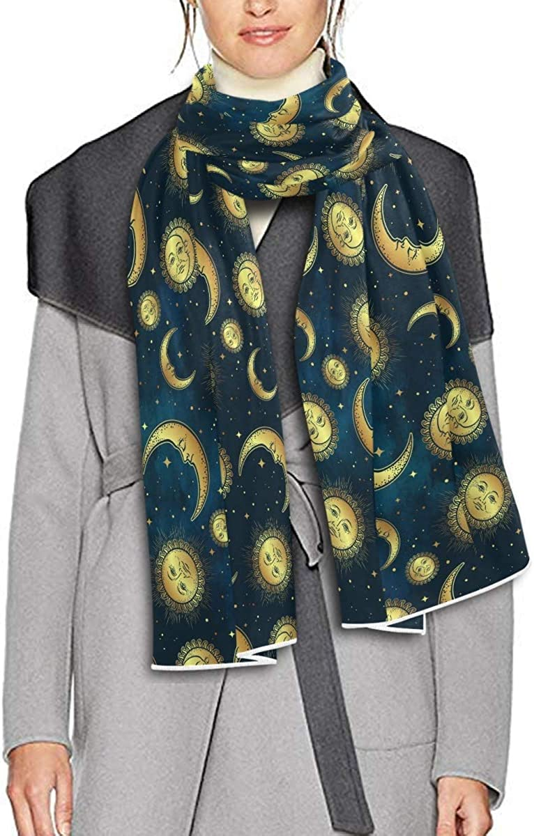 Scarf for Women and Men Moon Sun Stars Blanket Shawl Scarf wraps Soft Thick Winter Large Scarves Lightweight