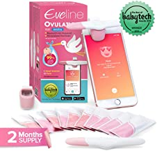 Smart Ovulation Predictor Kit with Digital Fertility Monitor App for The Modern Woman - FDA Listed for 99% Accuracy, Comes with 10 OPK Test Strips