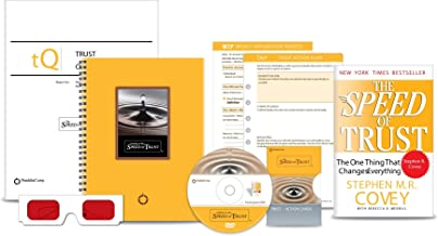 LEADING AT THE SPEED OF TRUST; 8 ITEM SET: PAPERBACK BOOK; SPIRAL BOOK; TRUST QUOTIENT REPORT SAMPLE; TRUST ACTION PLAN; WEEKLY INTEGRATION PROCESS; TRUST ACTION CARDS; GLASSES; ONE PARTICIPANT DVD
