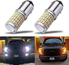 iBrightstar Newest Super Bright 1157 2057 2357 7528 BAY15D P21/5W Switchback LED Bulbs with Projector Replacement for Daytime Running Lights/DRL and Turn Signal Lights,White/Amber
