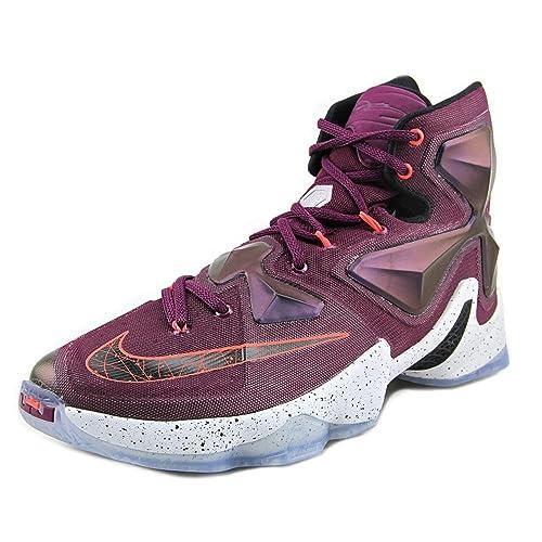 release date cfbc6 30bd4 Nike Men s Lebron XIII Mulberry Blk Pr Pltnm Vvd Prpl Basketball Shoe -