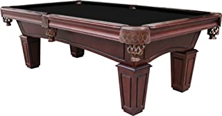 Playcraft St Lawrence 8' Espresso Slate Pool Table w/Leather Drop Pockets