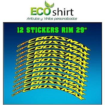 Ecoshirt 9I-5T9M-FGCX Stickers Jante Rim Mavic Crossmax SL Pro 26 27,5 Am50 MTB Downhill Blanc 27,5