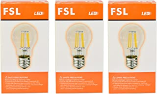 FSL LED Bulb Dimmable A60 8W Filament E27 Warm White 2700K (Price for 3pces)