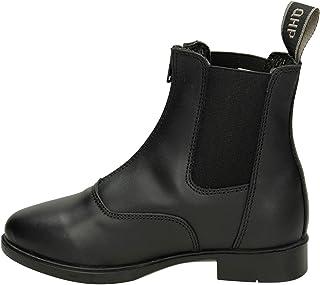 QHP Jodhpur Manilla Junior - Botines de equitación (cuero), color negro