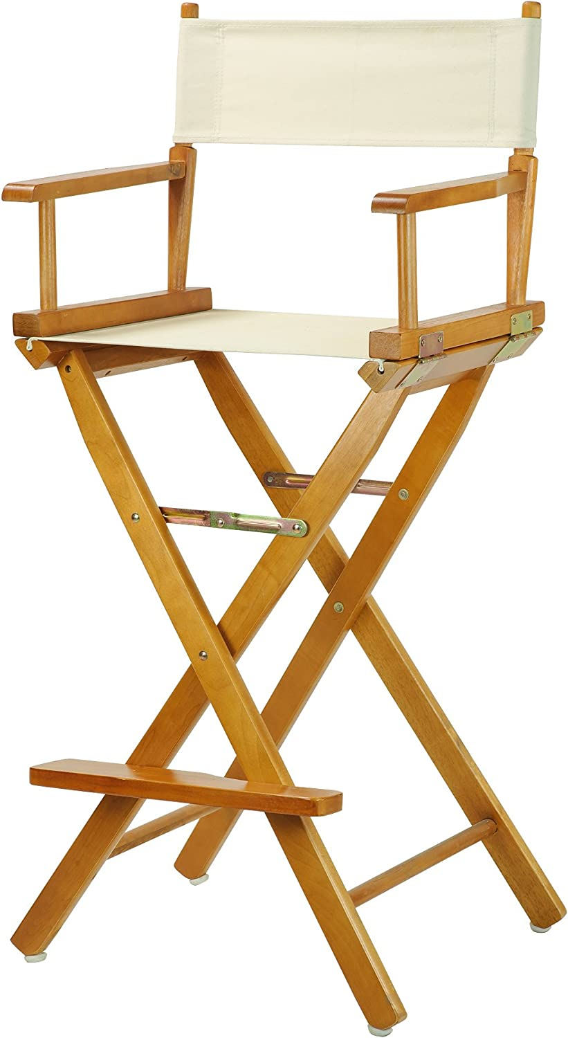 Casual Home 30-Inch Director Chair Honey Oak Frame, Natural Wheat Canvas