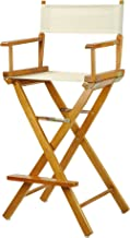 """Casual Home 30"""" Director's Chair Honey Oak Frame-with Wheat Canvas, Bar Height"""