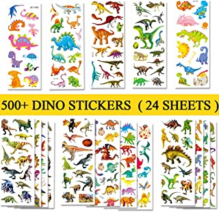 Best Beestech 500+ Dinosaur Stickers for Kids Boys Girls Toddlers, Teacher Reward Stickers, Potty Chart Training Stickers, Dinosaur Party Favor & Supplies, Dinosaur Favor Bags Hats Goody Gift Bags Boxes Review