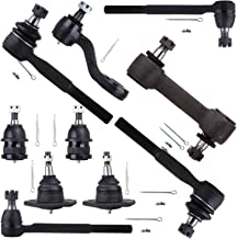 Sponsored Ad - SCITOO 10pcs Front Suspension Kit 2 Lower 2 Upper Ball Joints 2 Inner 2 Outer Tie Rods 1 Pitman Arm 1 Idler...