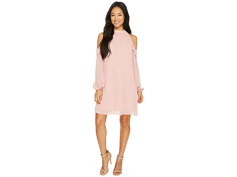 CeCe Noelle Cold Shoulder Pleated (Rose Pearl) Women