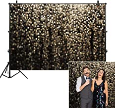 Allenjoy 7x5ft Gold Bokeh Spots Backdrop for Selfie Birthday Party Pictures Photo Booth Shoot Graduation Prom Dance Decor Wedding Vintage Astract Glitter Dot Studio Props Photography Background