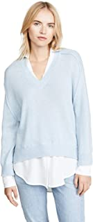 Brochu Walker Women's V Neck Layered Pullover