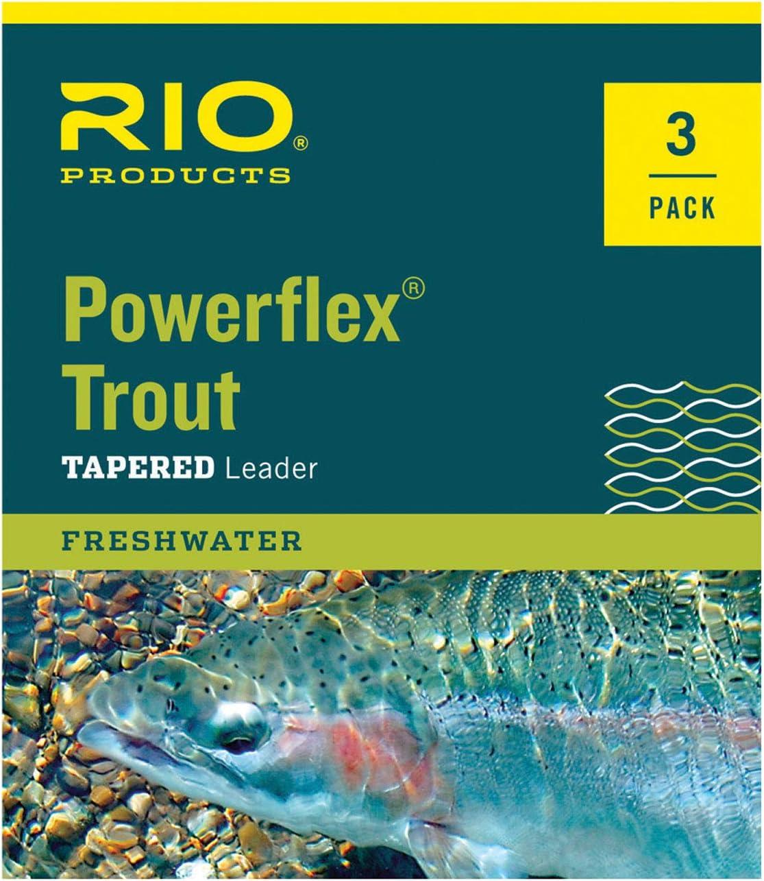 9ft 3 Pack Rio Fishing Products Fluoroflex Steelhead//Salmon Fluorocarbon Leader