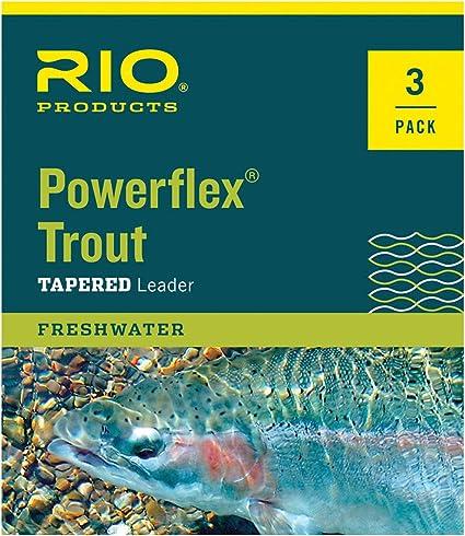 5X Rio Powerflex Trout 9 FT 3 Pack Taper Leader Size 4X