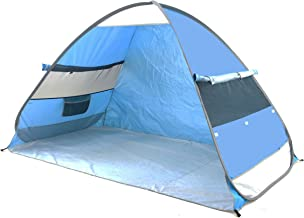 SolarWave Outdoor Easy-up Pop-up Beach Sun Tent. Pure ENJOYMENT: Relax, Recharge, Regroup! Reduces UVA and UVB Rays by 99.8%, Your QUALITY Shade   Shelter is GREAT for the Park or Soccer Game too.