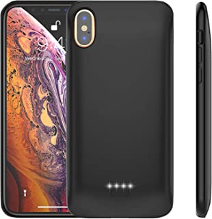 Gazetech Battery Case for iPhone X/XS, 4000mAh Ultra Slim Portable Protective Charging Case Compatible with iPhone X/XS/10 (5.8 inch) Rechargeable Extended Battery Charger Case,Supports Headphone