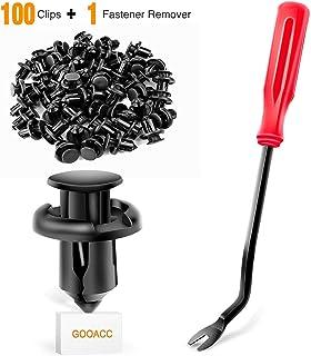 GOOACC 100 peças GRC-45 Clipes de rebite para para-lama - 91503-SZ3-003 10 mm, 1 pç Removedor de fixação bônus para Honda ...
