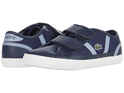 Lacoste Kids Sideline 0120 1 CUC (Little Kid) (Navy/Light Blue) Kid