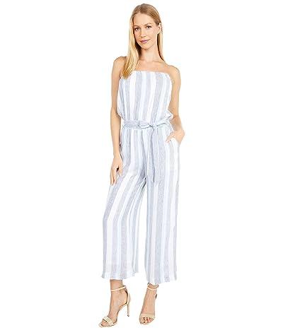 Splendid Striped Tie Waist Strapless Jumpsuit (Sea Stripe) Women