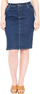Women's Plus Size True Fit Denim Short Skirt