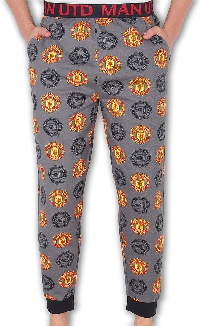 Manchester United FC Official Football Gift Mens Premium Long Pyjamas Set