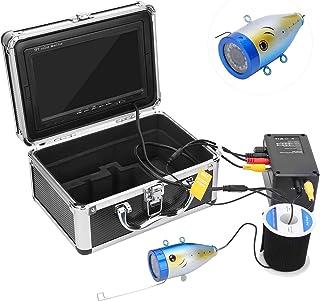 Cámara de pesca submarina 1000tvl de 7 pulgadas, monitor de pesca La cámara con sonda tiene 12 luces blancas de alta poten...