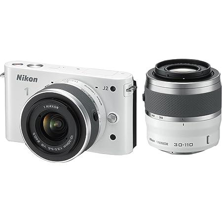 Nikon ミラーレス一眼 Nikon 1 J2 ダブルズームキット1 NIKKOR VR 10-30mm f/3.5-5.6/1 NIKKOR VR 30-110mm f/3.8-5.6付属 ホワイト N1J2WZWH