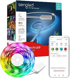 Sengled W1G-N84 WiFi LED 3 m funciona con Alexa Google 16 millones de colores con sincronización de audio, 12 W regulable ...