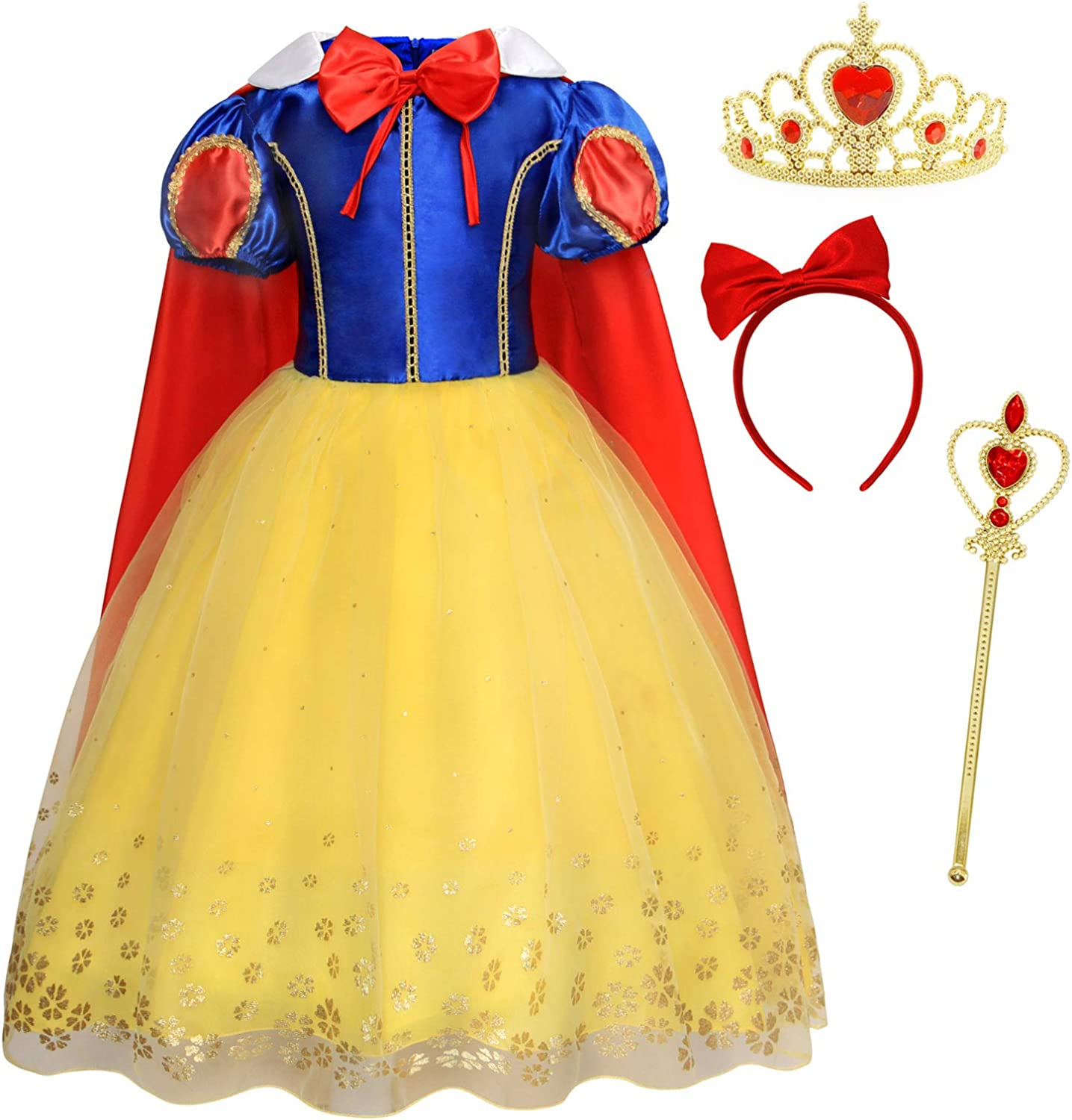 Cotrio Princess Birthday Free Shipping Cheap Bargain Gift Party Outfits Halloween discount Kids Girls Cost
