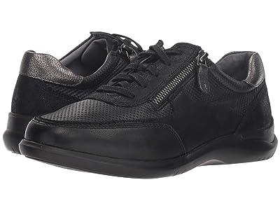 Aravon Power Comfort Tie w/ Side Zip (Black) Women