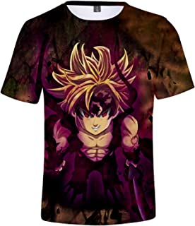 ZYOONG The Seven Deadly Sins Logo Oversized Anime T-Shirt 3D Printing Fashion T-Shirt Casual Sportswear Oversized T-Shirt ...