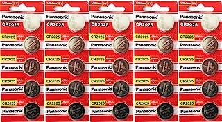 Panasonic CR2025 3 Volt Lithium Coin Battery 25 Pack