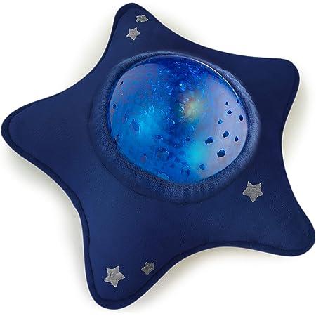 Veilleuse Musicale et Lumineuse - Enfant et Bébé - Peluche en Forme d'Etoile - Projecteur Aquatique - Nomade - Lampe - Plafond - Calm Ocean - Bleu - Pabobo x Kid Sleep
