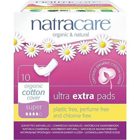 ナトラケア Natracare 生理用ナプキン オーガニック ふつうの日用~多い日用 羽根付き ウルトラパッド スーパー 10個入り