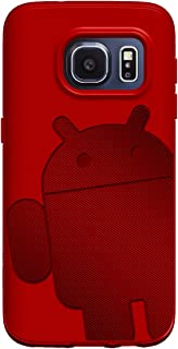 Galaxy S7 Case, Cruzerlite Androidified A2 (TPU and Carbon) case for Samsung Galaxy S7 - Red