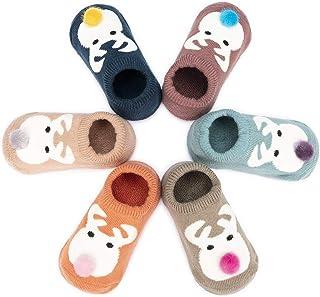 Adorel Calze Antiscivolo Neonati Bimba 3-12 Mesi Confezione da 6