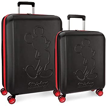 American Tourister Disney Softside Spinner 2 piece Luggage set 21 and 28 and Travel Pillow 67608 67609 One Size, Minnie Mouse Polka Dot