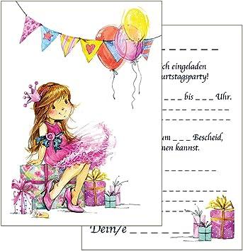 Einladung zum Geburtstag Prinzessin Karte Einladungskarten Kindergeburtstag