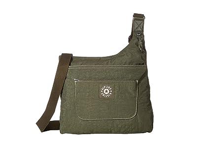 Kipling Delilah Crossbody (Jaded Green) Cross Body Handbags